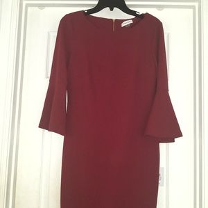 Calvin Klein Bell Sleeve Dress Sz 6